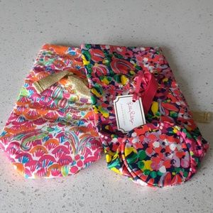 NWT Lilly Pulitzer Set of 2 Wine Totes